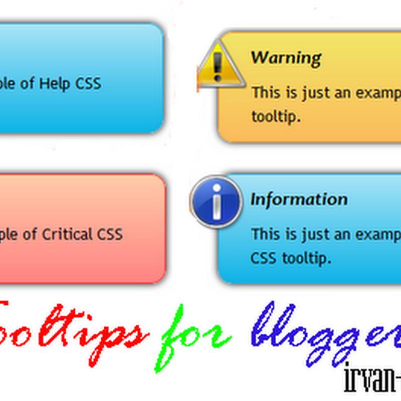 Cara membuat tooltip keren di blog