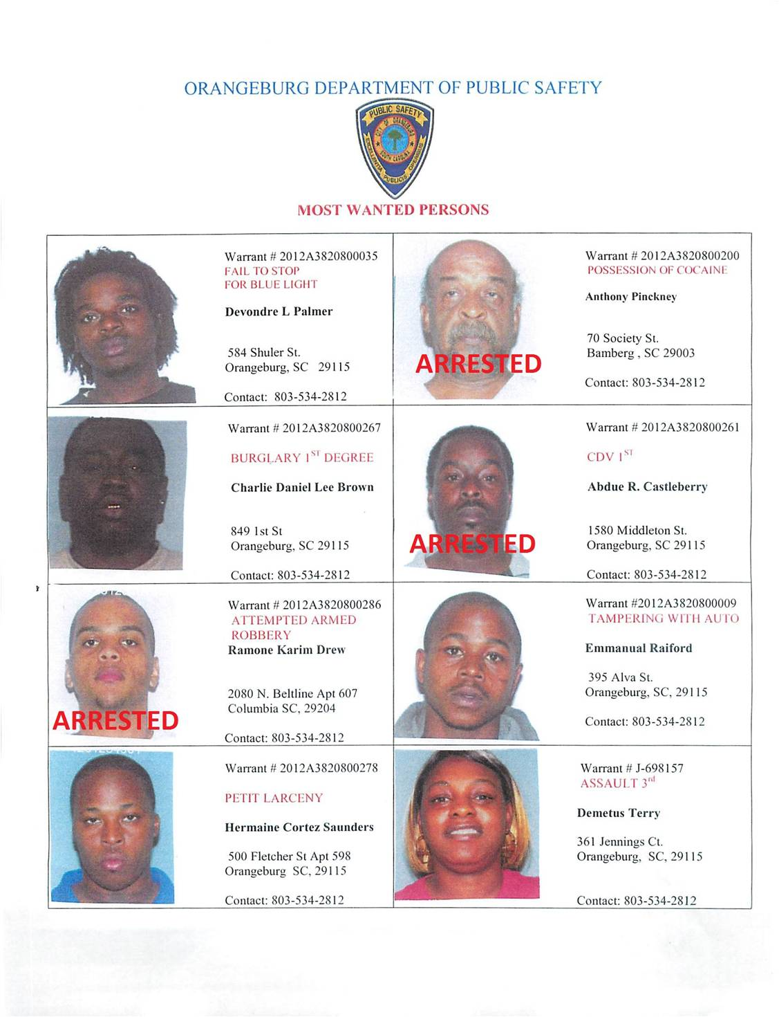 Miami Dade Bench Warrant Search Part - 46: Name: Most Wanted