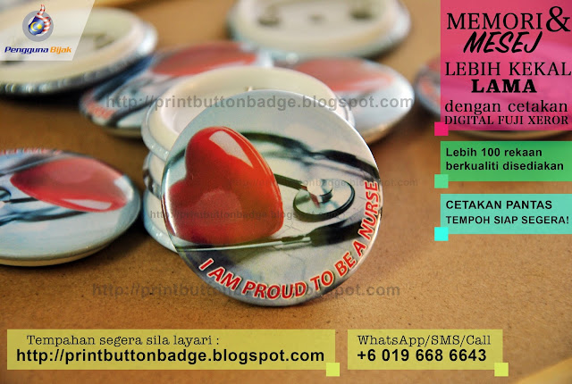 nurse day button badge