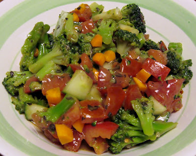 Vegan broccoli salad with dijon balsamic vinaigrette