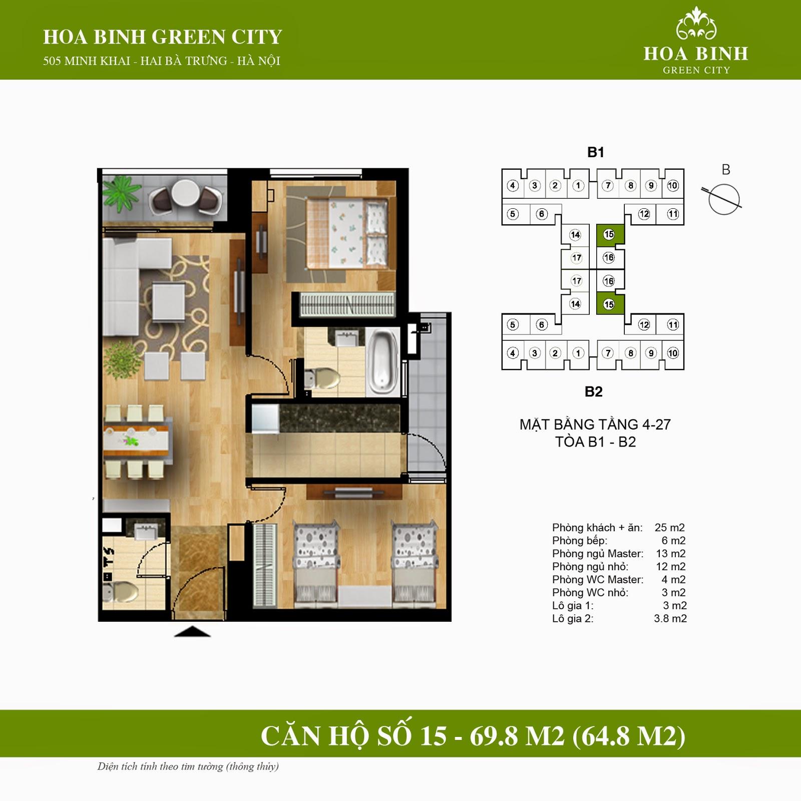 Hòa Bình Green City B 69,8m2