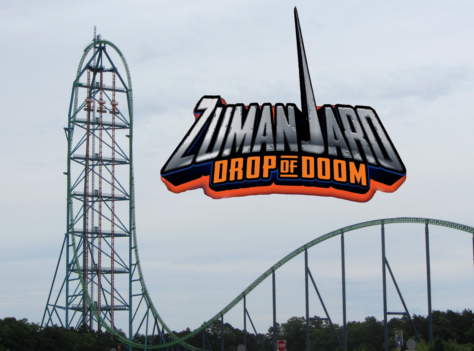 Newsplusnotes Dropping In On Zumanjaro Drop Of Doom At Six Flags