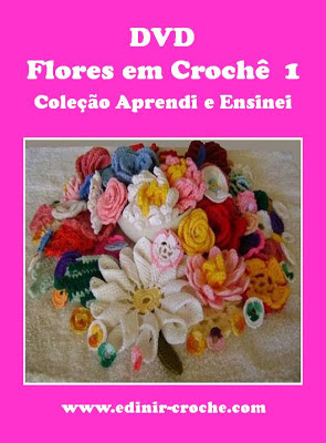 edinir-croche dvd flores em croche 1 frete gratis