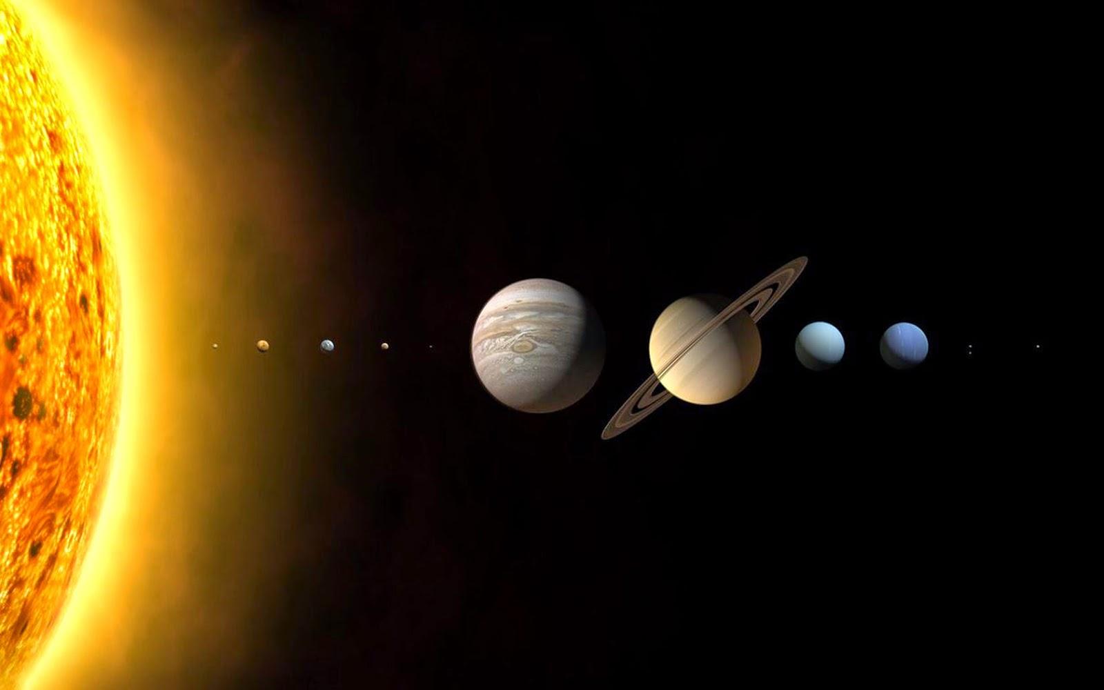 Papel de Parede Espaço Planetas do Sistema Solar para pc hd 3d grátis Space desktop hd wallpaper image free