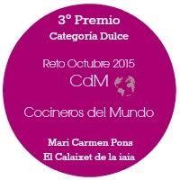 ¡Muchas gracias a l@s compañer@s de Cocineros del Mundo por éste premio!