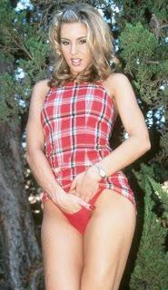 pornstar april fingering herself in red undies