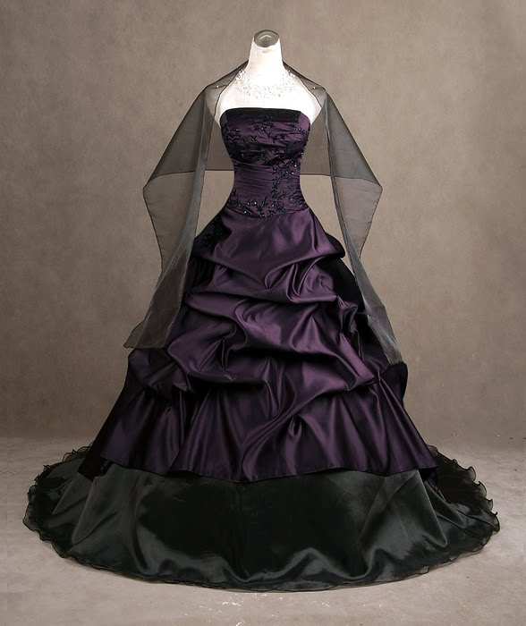 Looking for a Gothic yet romantic wedding dress
