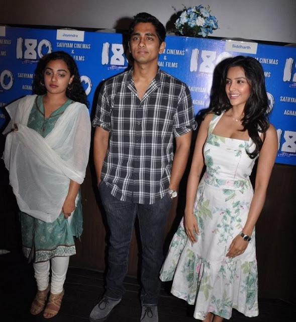 Siddharth, Nitya Menon, Priya Anand at latest Telugu Movie 180 Press meet
