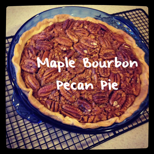 Maple Bourbon Pecan Pie - a new Thanksgiving Favorite!