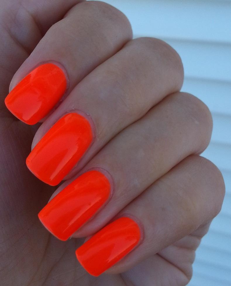 Orange Nail Polish Nz: Pie's Eyes & Other Sparkly Stories...: Easy Paris NEON Orange
