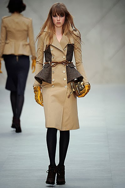 Burberry wool peplum trench from AW12