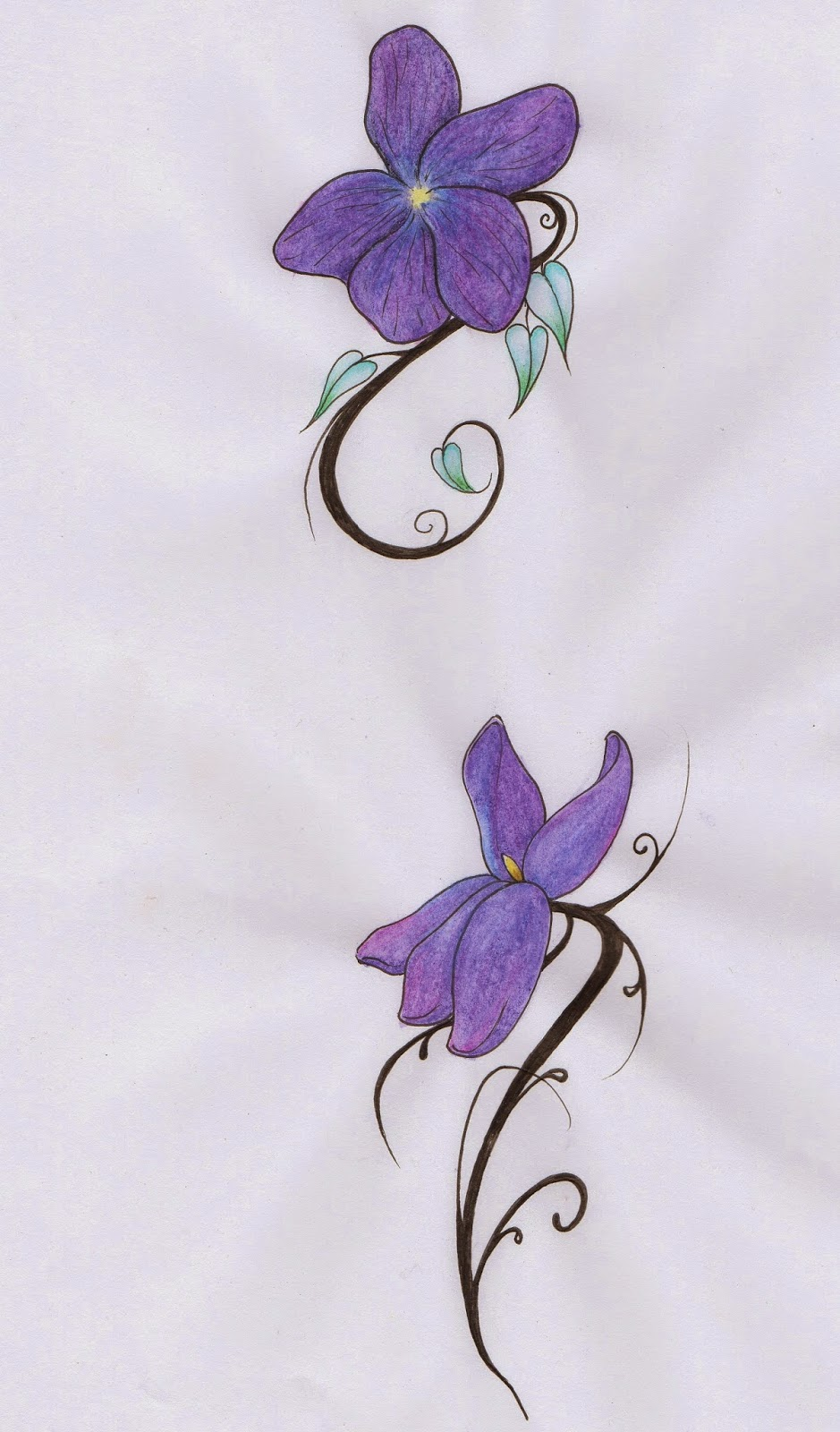 Novembre 2014 - Tatouage pensee fleur ...