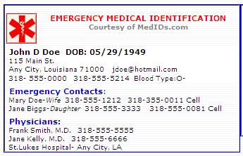 Influential image intended for free printable medical id card