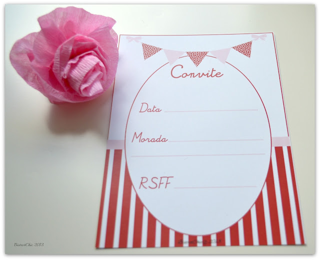 Free Red and Pink Invitation from BistrotChic