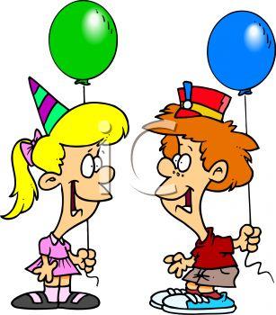 Cartoon girl birthday party