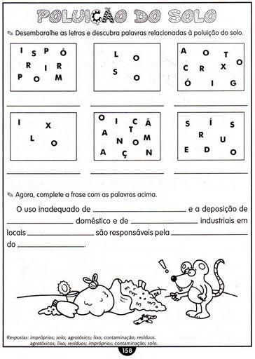 ATIVIDADES  TIPOS DE SOLO, PLANETA, SISTEMA SOLAR, CLIMA, MAPA