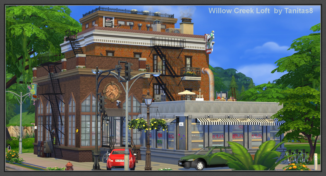 My sims 4 blog willow creek loft by tanitas8 for The willow house