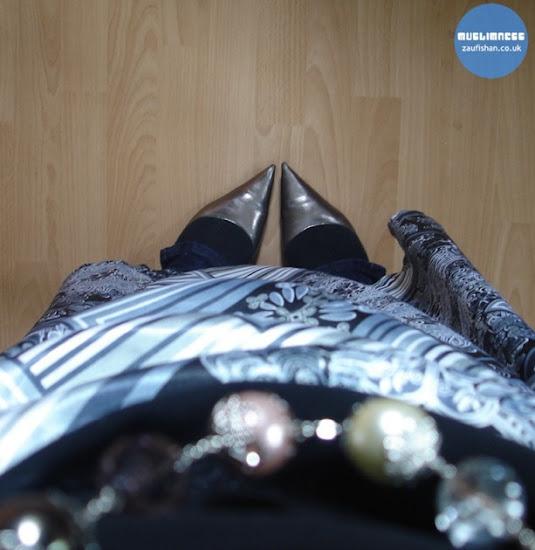 dubai silver black abaya jilbab kaftan arab outfit