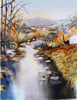 Sengundo premio VII Concurso Pintura Rápida. Otoñada Valle del Jerte.