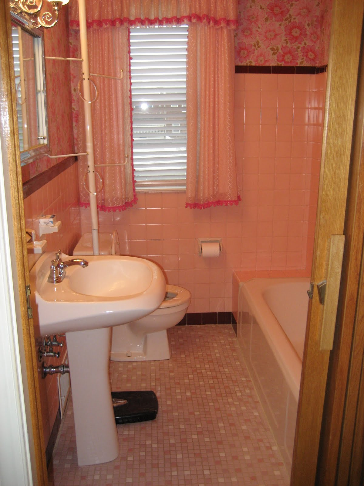 West Pear Avenue Behold The Pink Bathroom