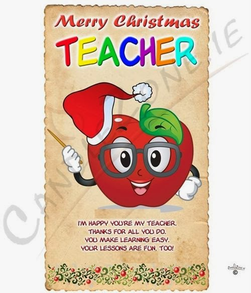 Famous Merry Christmas 2013 Message For Teachers