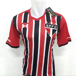 gambar desain terbaru musim depan jersey liga brasil Jersey Sao Paulo home terbaru musim 2015/2016 gambar foto photo di enkosa sport toko online jersey bola terpercaya