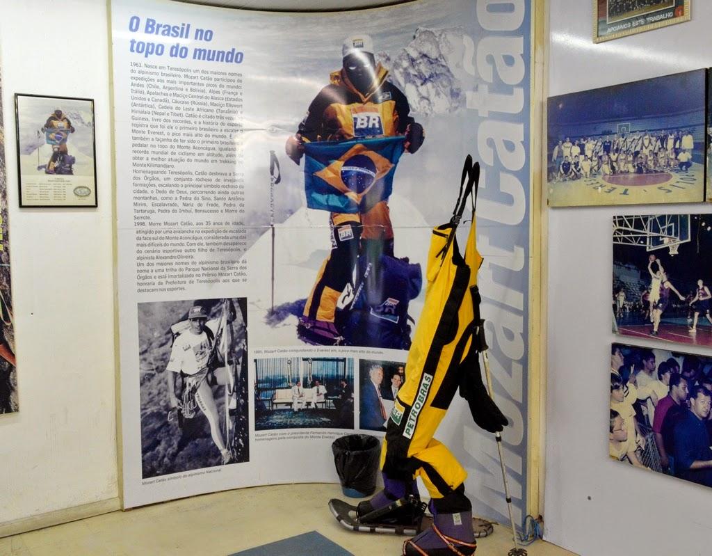 Roupa de alpinismo de Mozart Catão, um dos maiores nomes do alpinismo brasileiro