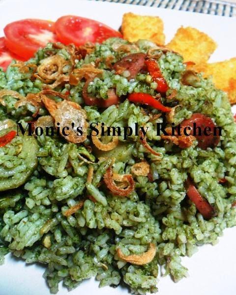 nasi goreng hijau ala monic