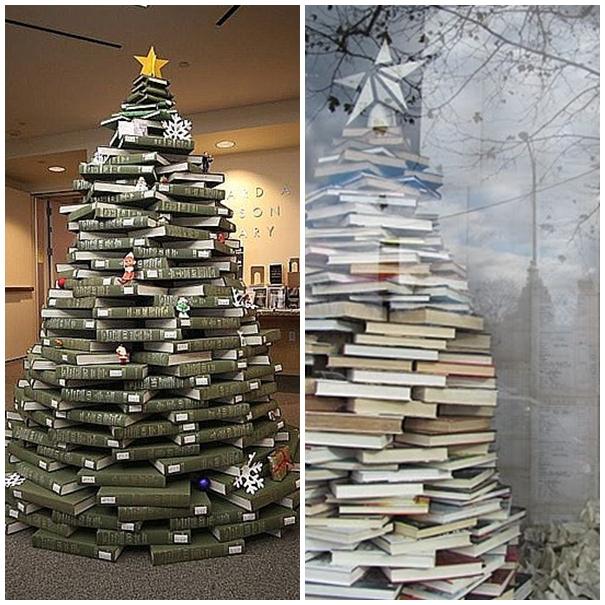 Palik navidad sostenible - Arbol de navidad con libros ...