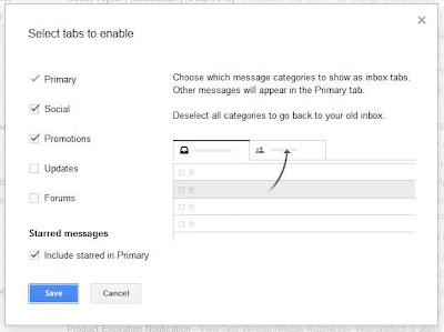 настройка gmail по табам