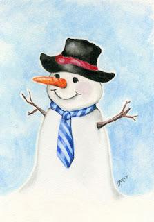 dibujo de un hombre de nieve