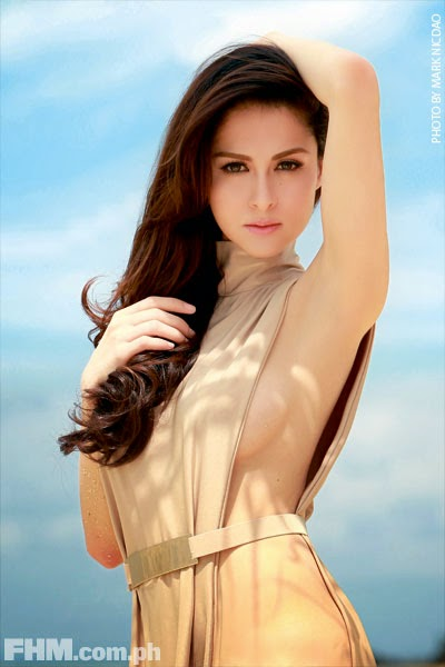 Marian Rivera preparing for the FHM competition