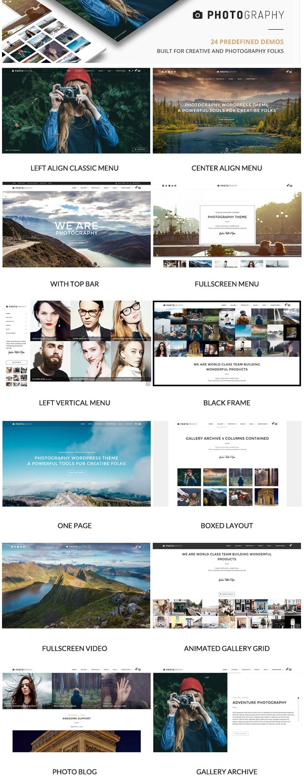 Responsive Photography WordPress Theme