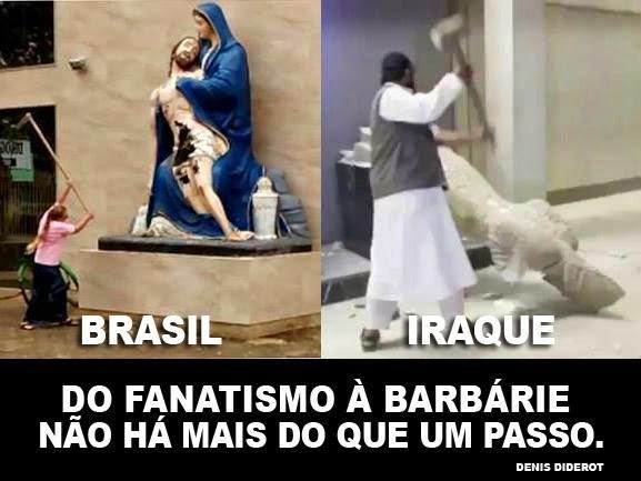 Intolerância religiosa: mulher destrói santa a machadadas em Minas Gerais