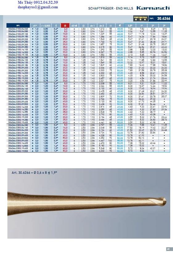Dao phay hợp kim 2 me Karnasch - Đức 0912.04.32.39