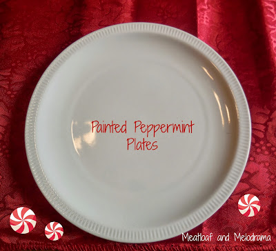 peppermint painted plates