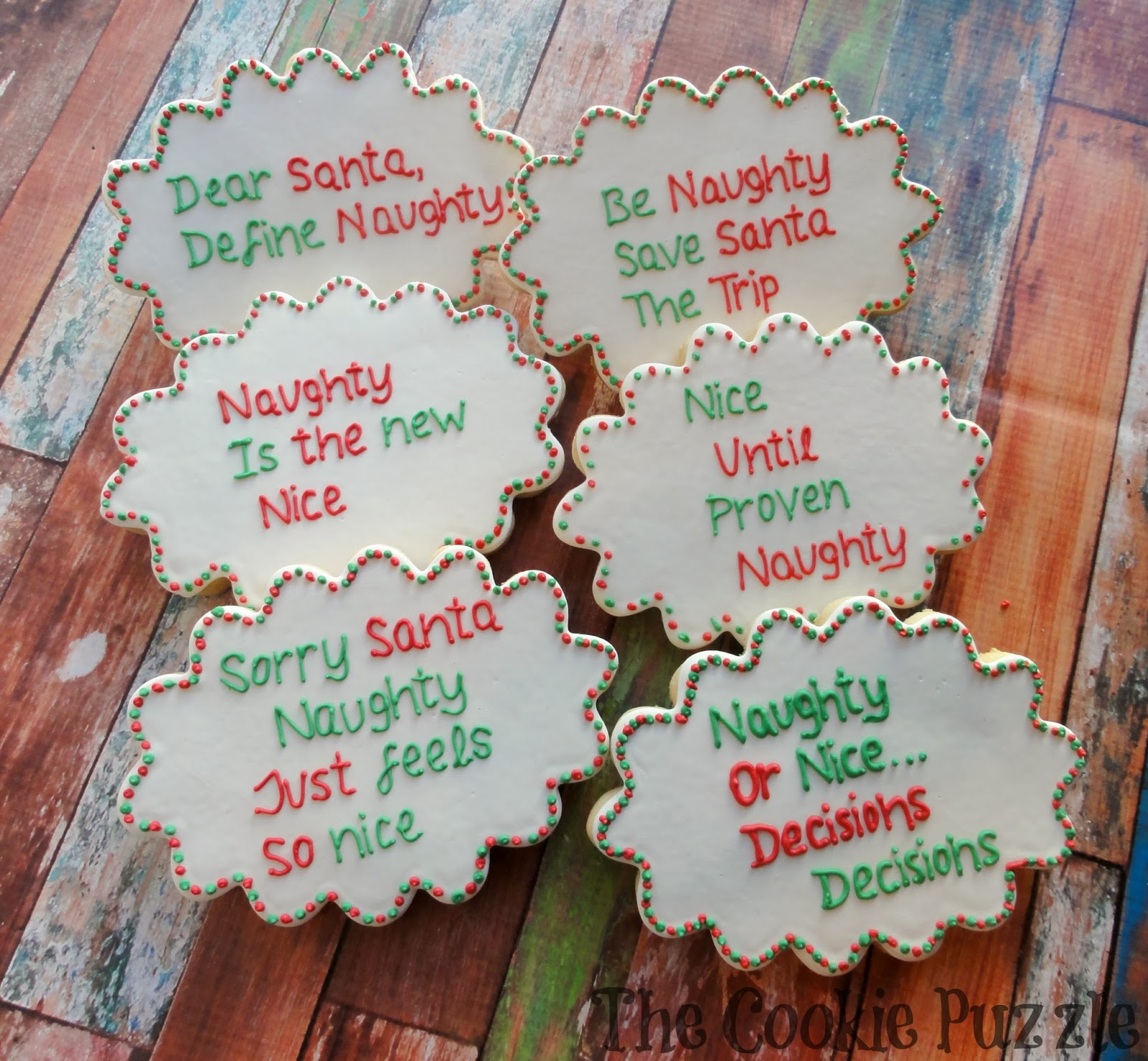 The Cookie Puzzle: Naughty and Nice Christmas Cookies