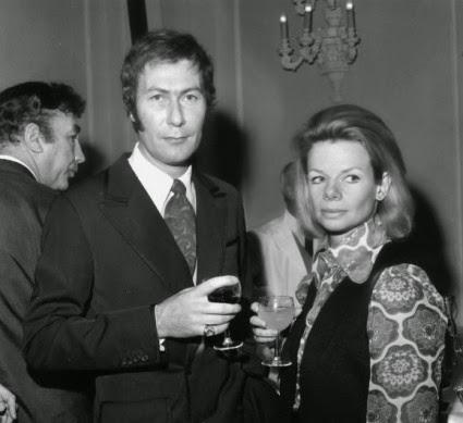 John Osborne and Jill Bennett in 1969