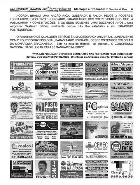 GRANDE JONNAL  DO ESTADO  PB   E GRANDE JORNAL DE CAJAZEIRAS  PB
