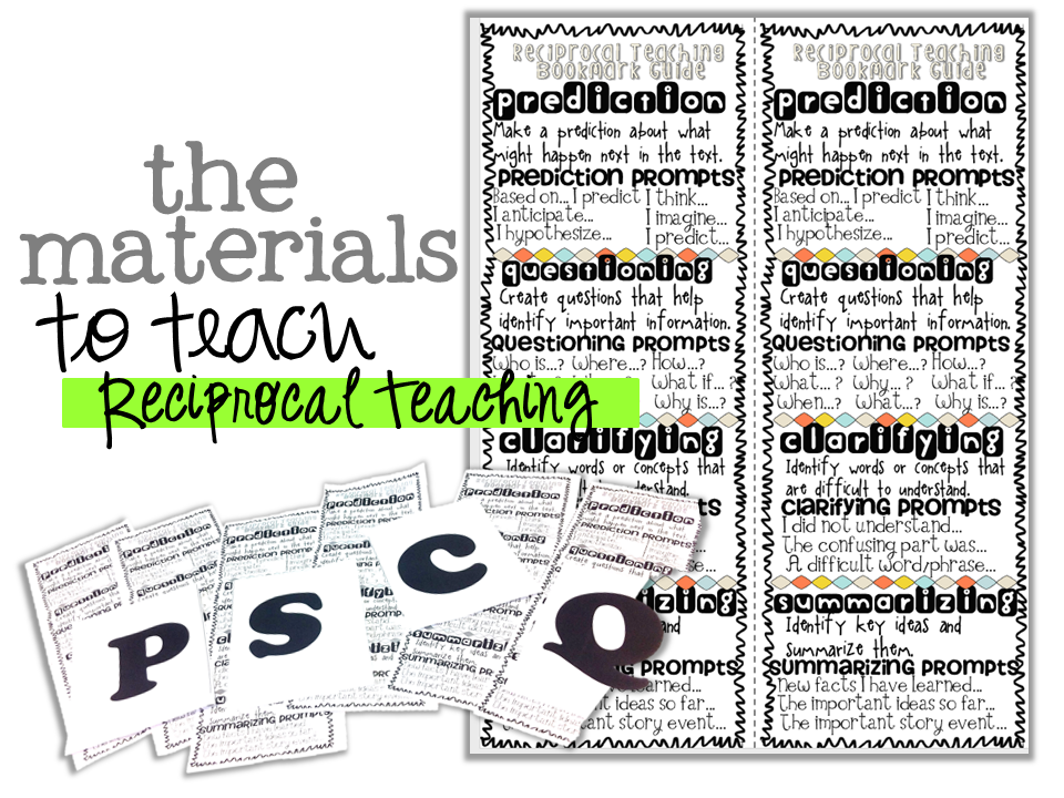 reciprocal teaching bookmarks