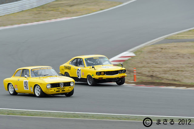 Mazda Savanna (RX-3), tor wyścigowy, sport, klasyk, rotor, wankel, nostalgic, rywalizacja, alfa romeo, włoski, stary japoński samochód, oldschool