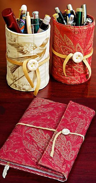 Pap de Capa de Tecido para Caderno e Latinha