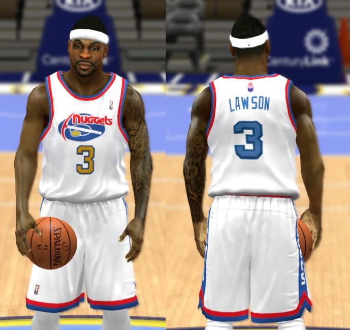 NBA 2K14 Complete Denver Nuggets Jersey Patch