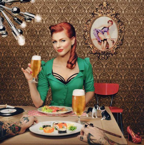 Ivana Gretel Macabre deviantart fotos modelo ruiva pin-up Um brinde