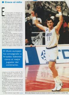 Sabonis, campeón de Europa con el Madrid