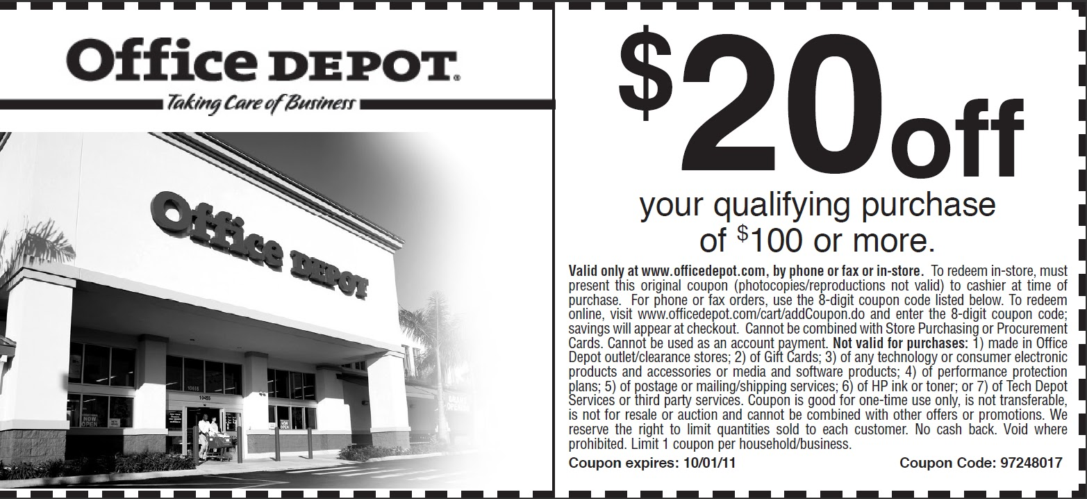 Office depot discount coupons in store
