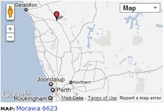 Map of Morawa for the proposed Solar Power Plant.