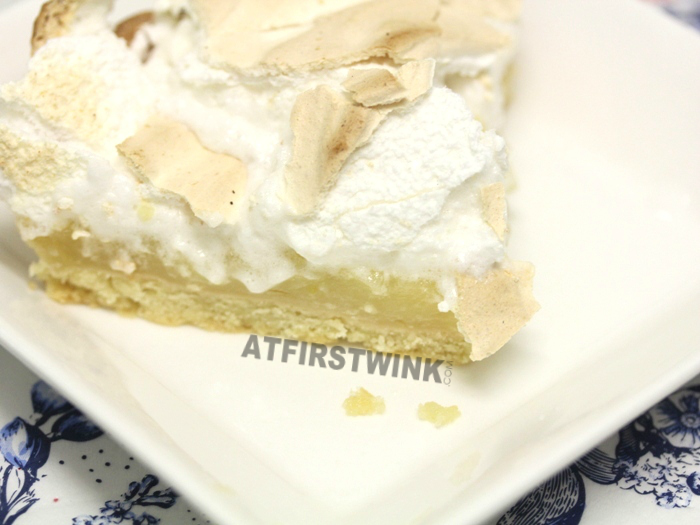 Marks and Spencer Lemon Meringue Pie close up