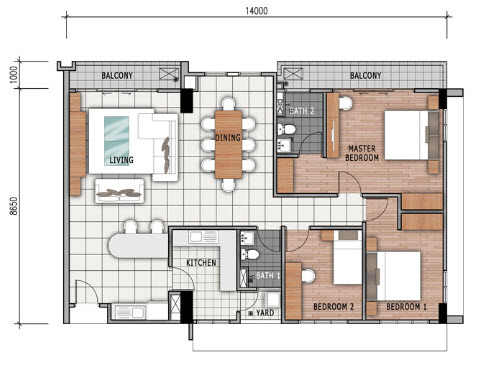 Floor Plan Feng Shui July 2015