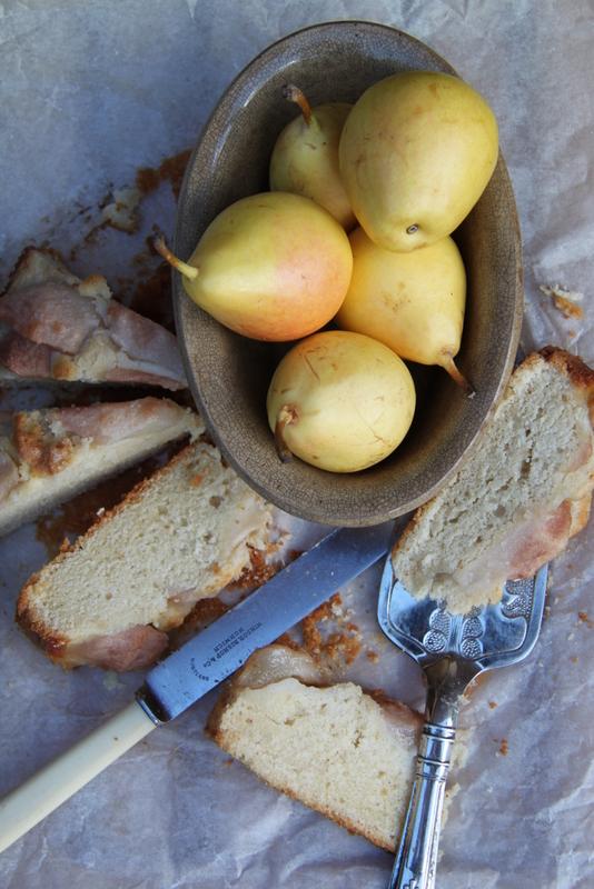 Ciasto maślane z gruszkami